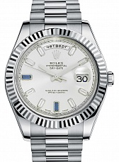 Часы Rolex Day-Date II 41mm Diamond Dial White Gold Sapphire Diamonds