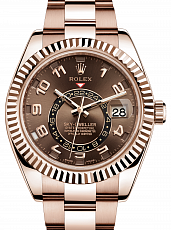 Часы Rolex Sky-Dweller Rose Gold Chocolate Dial