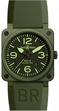 Часы Bell & Ross Green Ceramic Military Type 42mm Automatic