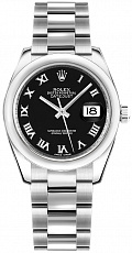 Часы Rolex Oyster Perpetual Datejust 31mm Steel Black Romain Dial 178240
