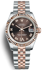 Часы Rolex Datejust 31mm Steel and Pink Gold Chocolate Dial