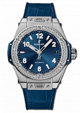 Часы Hublot Big Bang One Click Steel Blue Diamonds 2019